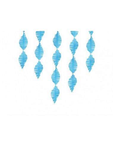 Crêpe slinger fringe blauw