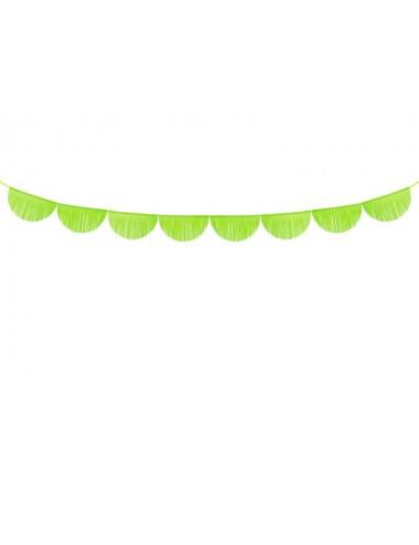Crêpe slinger boog groen 32 cm