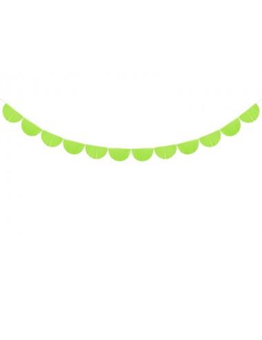 Crêpe slinger boog groen 20 cm