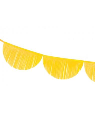 Crêpe slinger boog geel 32 cm