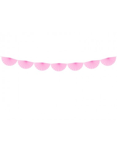 Crêpe slinger rozetten roze