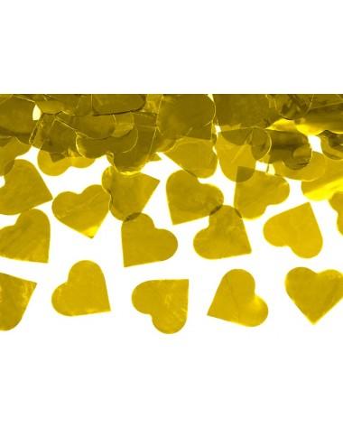 XL Confettikanon hartjes goud