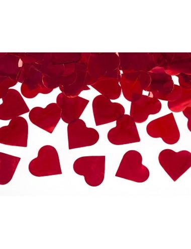 Confettikanon hartjes rood
