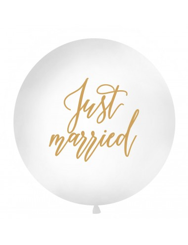 "XL ""Just Married"" Ballon goud"