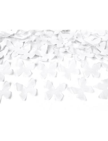 Confettikanon vlinders wit