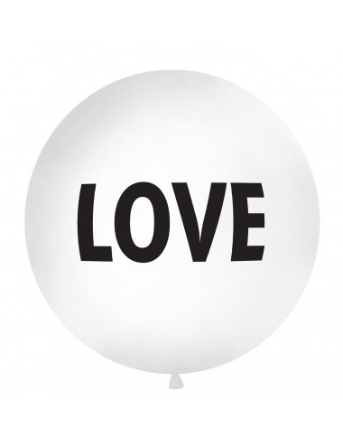 "XL Ballon ""LOVE"" zwart"
