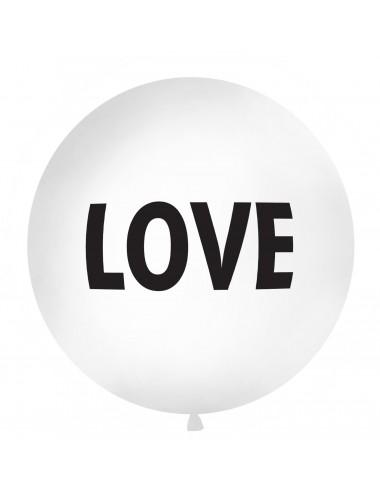 """XL Ballon """"LOVE"""" zwart"""