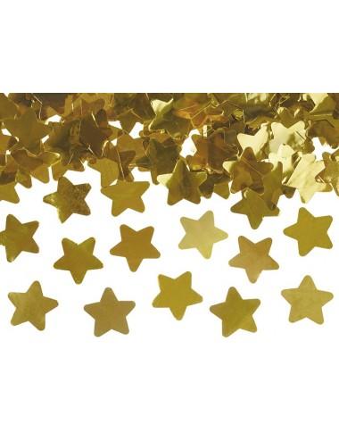 Confettikanon sterren goud