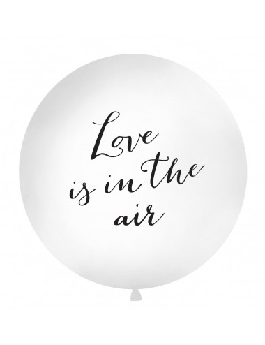 "XL Ballon ""Love is in the air"" zwart"