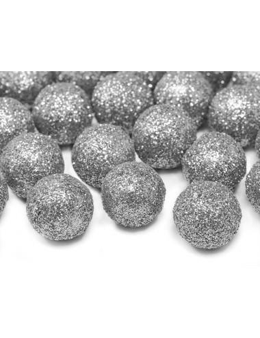 Confetti balletjes zilver