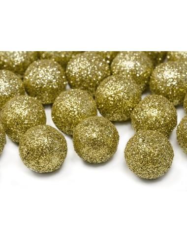 Confetti balletjes goud