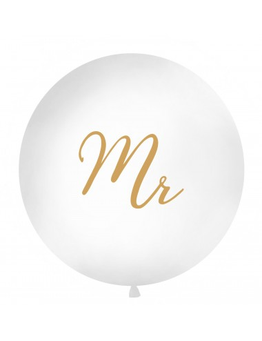 "XL Ballon ""Mr"" goud"