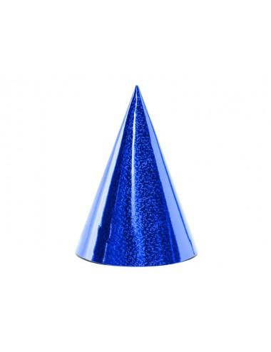Feesthoedjes blauw (6st)