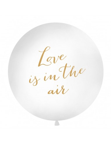 "XL Ballon ""Love is in the air"" goud"