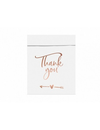 "Uitdeelzakjes ""Thank you"" (6st)"