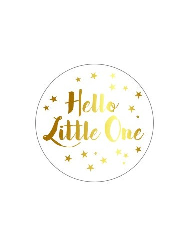 Sticker Hello Little One goud (10st.)