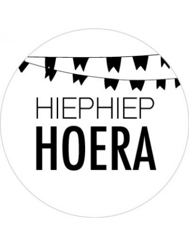 "Sticker ""Hiephiep hoera""  (10st.)"
