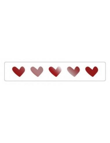 Sticker hartjes rood  (10st.)