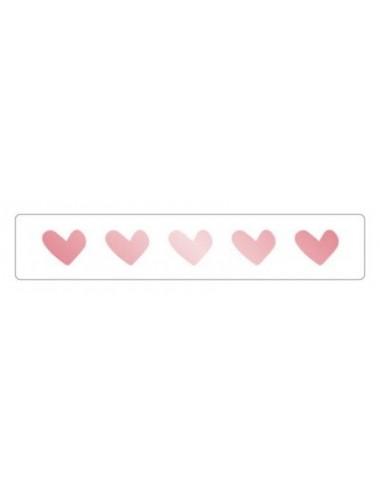 Sticker hartjes rosegoud (10st.)