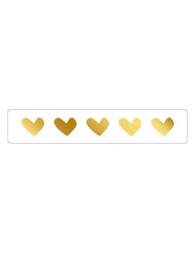Sticker hartjes goud (10st.)