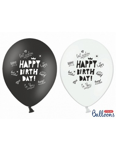 Ballonnenmix Happy Birthday (6st)