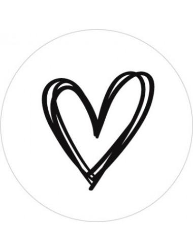 Sticker hartje  (10st.)