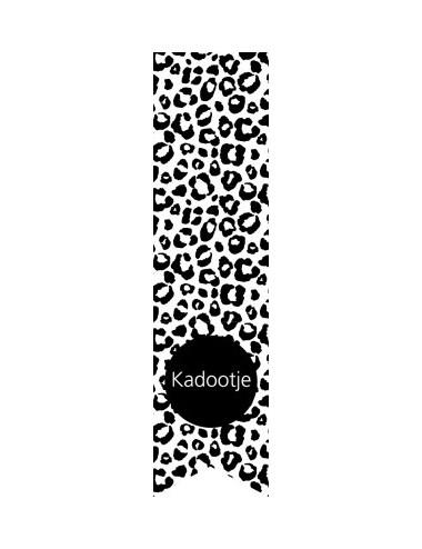 Labelsticker luipaard zwart/wit (5st.)