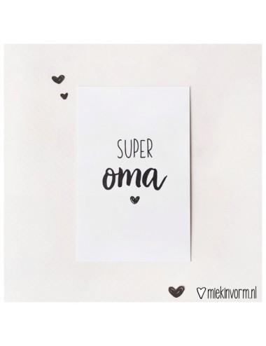 """Minikaartje """"Super oma"""""""