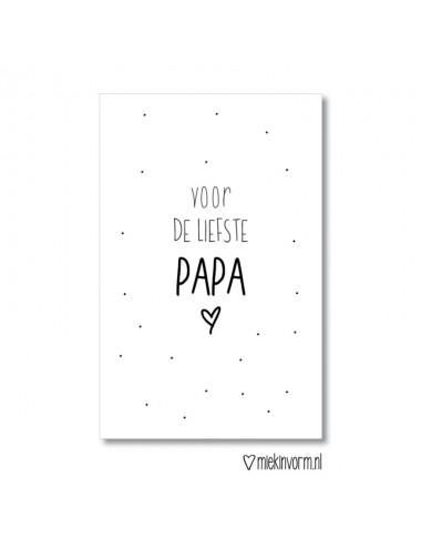 """Minikaartje """"voor de liefste papa"""""""