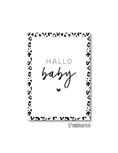 """Invulkaarten """"Hallo baby""""..."""
