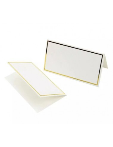 Plaatskaartjes goud (10st)