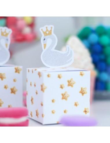 """Boxjes """"Lovely Swan"""" (5st)"""