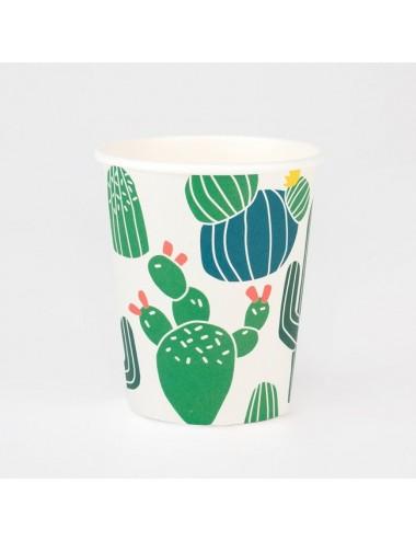 Papieren bekertjes cactus (8st)