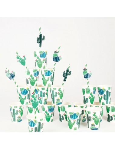 Papieren bekertjes cactus...