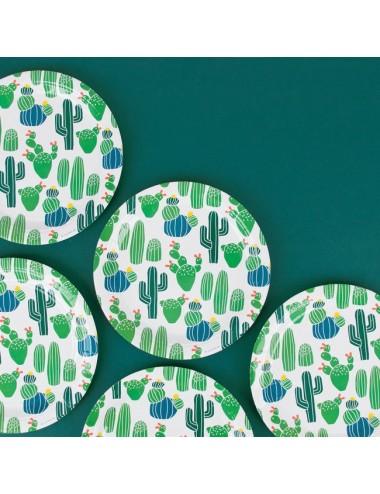 Papieren bordjes cactus (8st)