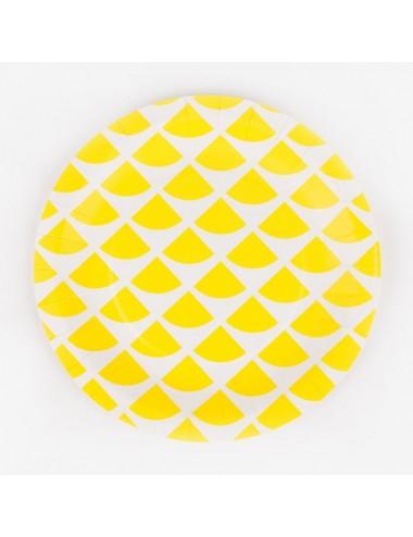 Papieren bordjes citroen (8st)