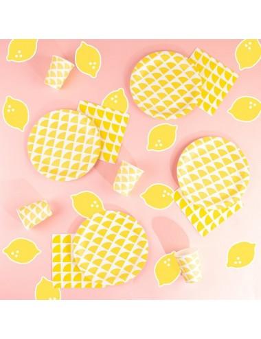Papieren servetten citroen...