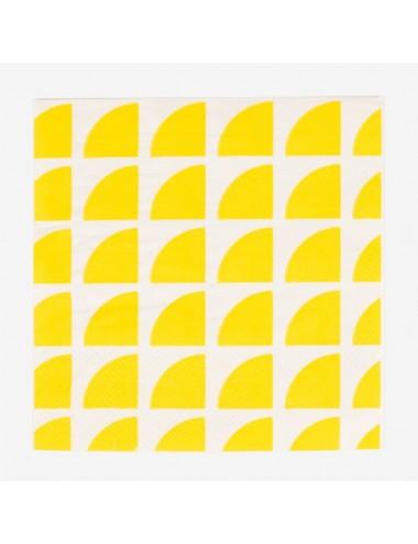 Papieren servetten citroen (20st)