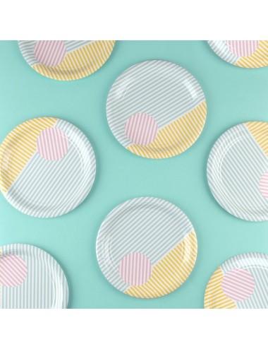 Papieren bordjes pastel (8st)