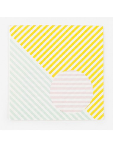 Papieren servetten pastel (20st)