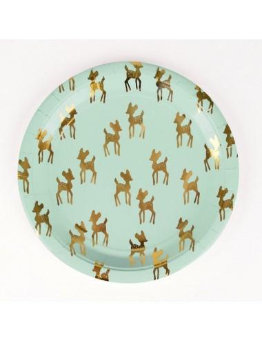 Papieren bordjes Bambi (8st)