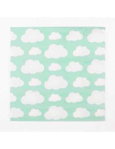 Papieren servetten Wolken (20st)