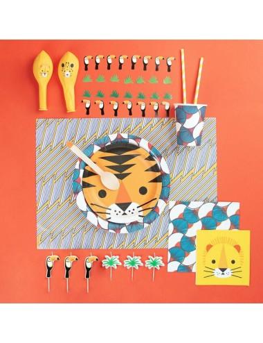 Papieren bordjes dieren (8st)