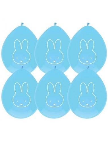 Blauwe  ballonnen Nijntje (6st)