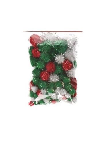 Confetti pompomballetjes mix