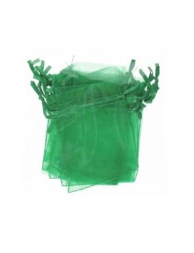 Organza zakje groen (2st.)