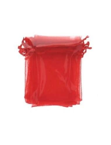 Organza zakje rood (2st.)