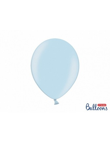 "Metallic ballonnen ""Baby Blue"""