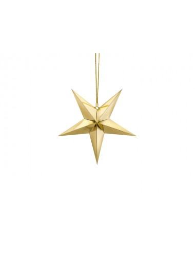 Papieren ster goud (3 maten)