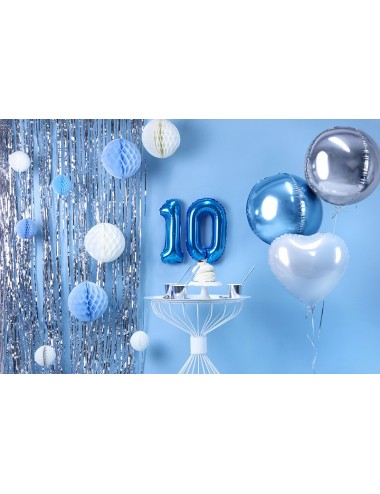 Folieballon cijfer blauw